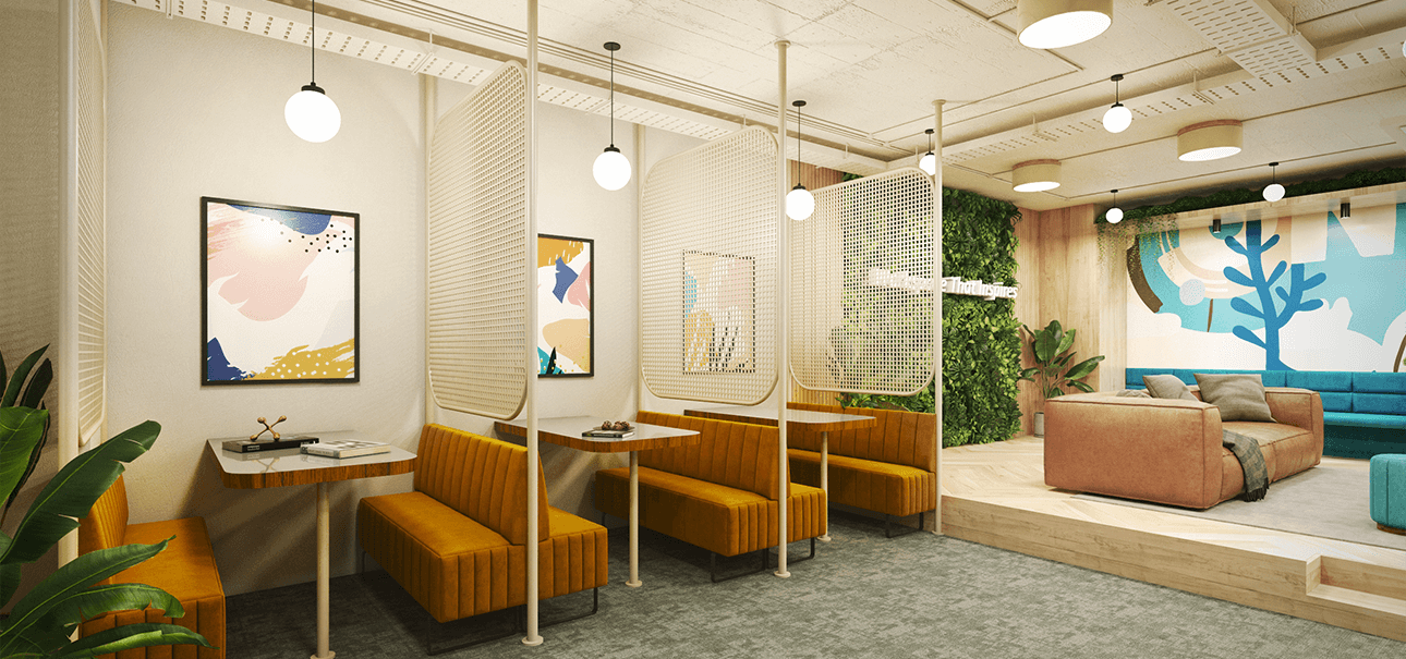 Business Lounge at Coworking Space in Hyderabad by DevX