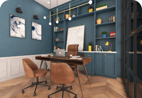 Phi Designs French Corporate Office Interior Designs