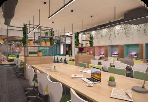 Phi Designs Contemporary Startup Office Interior Designs