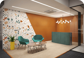 Phi Designs Corporate Office Contemporary Interior Designs