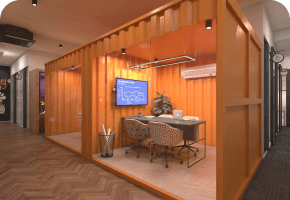 Phi Designs Corporate Office Industrial Interior Designs